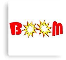 """BOOM"" typography Canvas Print"