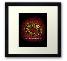 One King To Rule Them All Framed Print