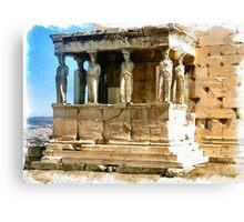 Caryatid Porch of the Erechtheion - Athen, Greece Canvas Print