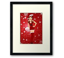 Sexy for Christmas Framed Print
