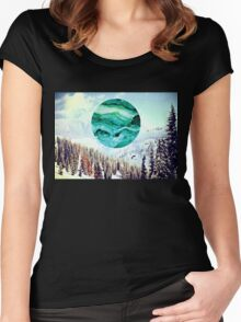 SNOWY MORNING Women's Fitted Scoop T-Shirt
