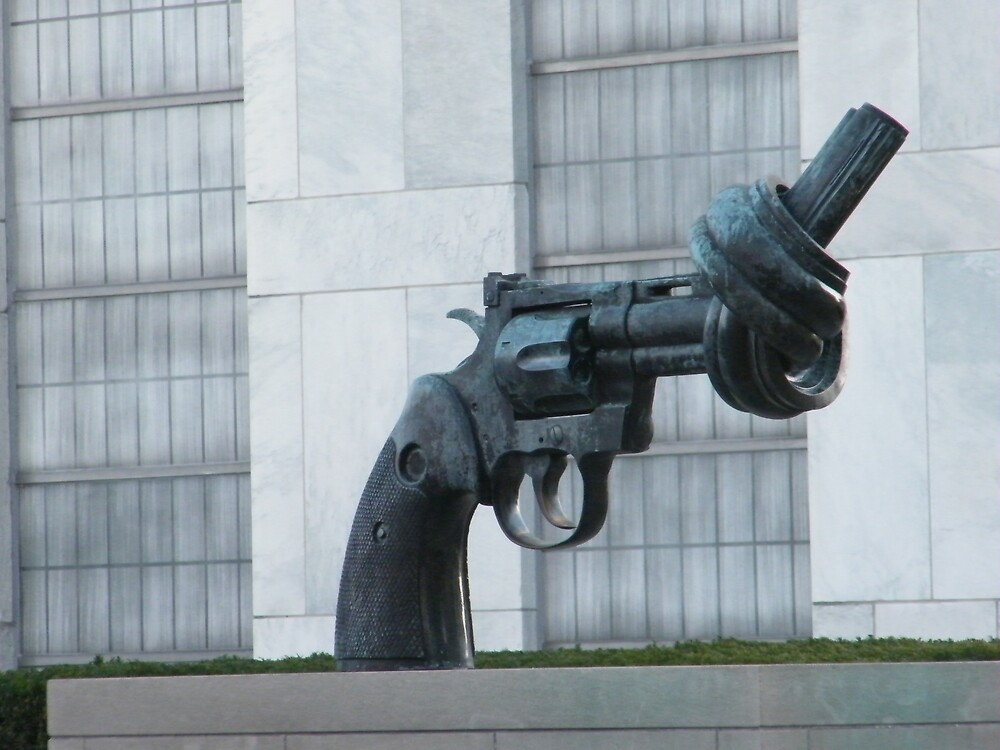 Anti-Violence Sculpture, United Nations, New York  by lenspiro