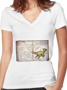 ARK: Survival Evolved - Raptor Women's Fitted V-Neck T-Shirt