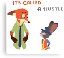 Zootopia Hustle Canvas Print