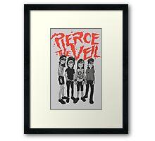 Pierce the Veil - Skeleton Band Framed Print