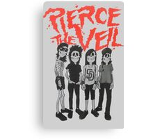 Pierce the Veil - Skeleton Band Canvas Print