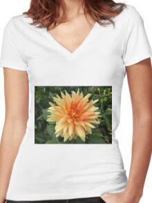 Flower Close-Up, Liberty Community Garden, Lower Manhattan, New York City Women's Fitted V-Neck T-Shirt