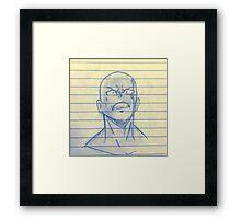 Saitama sensei  Framed Print