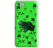 Froggy in Clover... or Shamrocks? iPhone Case/Skin