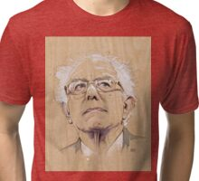 (Wood) Burnie Sanders Tri-blend T-Shirt