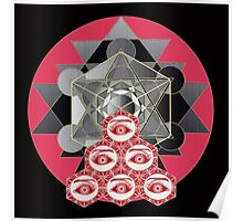 Om cube with six eyes Poster
