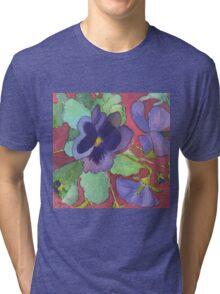 Maria's Pansies Tri-blend T-Shirt