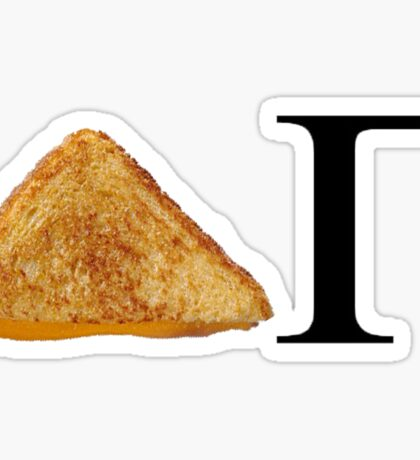 Delta Gamma Grilled Cheese Sticker