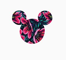 Red Floral Mickey Head Unisex T-Shirt