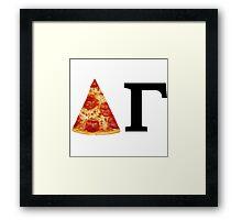 Delta Gamma Pizza Framed Print