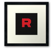Team Rocker Logo Pokemon Art Kanto Original Framed Print