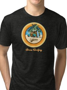 Woody Gone Surfing California Tri-blend T-Shirt