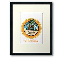 Woody Gone Surfing California Framed Print