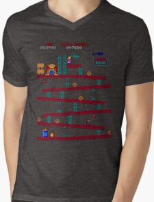 Donkey Kong Arcade Mens V-Neck T-Shirt