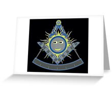 Past master compass Greeting Card