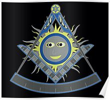 Past master compass Poster