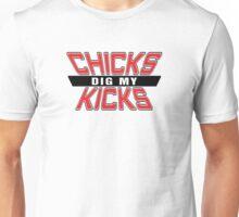 Chicks Dig my Kicks - Bred Unisex T-Shirt