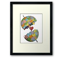 Pint Size Planet (Puzzle) Framed Print