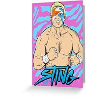 WWE Retro Sting Greeting Card