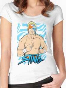 WWE Retro Sting Women's Fitted Scoop T-Shirt