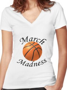 March Madness Women's Fitted V-Neck T-Shirt