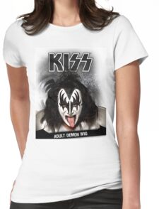 Kiss - Adult Demon Wig Womens Fitted T-Shirt