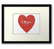 Oppa Heart Framed Print