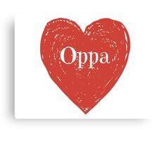 Oppa Heart Canvas Print