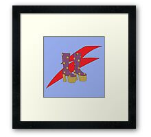 Glam Rock Rebel Framed Print