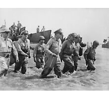General MacArthur returns to the Philippines Photographic Print