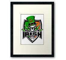Irish Skull: Beer Me I'm Irish Framed Print