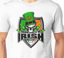 Irish Skull: Beer Me I'm Irish Unisex T-Shirt
