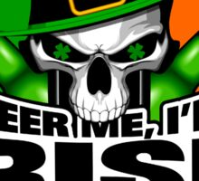 Irish Skull: Beer Me I'm Irish Sticker