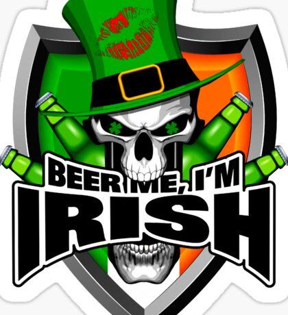Irish Skull: Beer Me I'm Irish Sticker