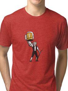 American Patriot Craft Beer Musket Bayonet Retro Tri-blend T-Shirt