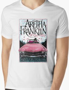 Aretha Franklin. The Queen of Soul Mens V-Neck T-Shirt