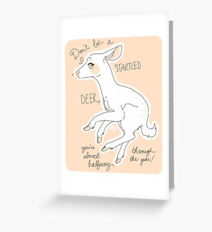 Startled Deer! Greeting Card