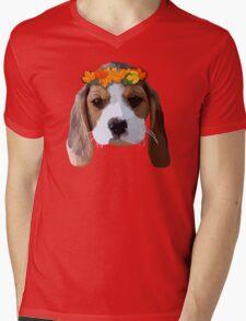 Baby Beagle Mens V-Neck T-Shirt