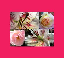 Roses and Lilies Collage - Unframed Womens Fitted T-Shirt