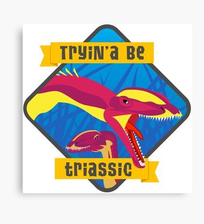 Triassic Lophostropheus Canvas Print
