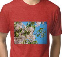Spring Blossom - Pear Tree - Lubbock Texas Tri-blend T-Shirt