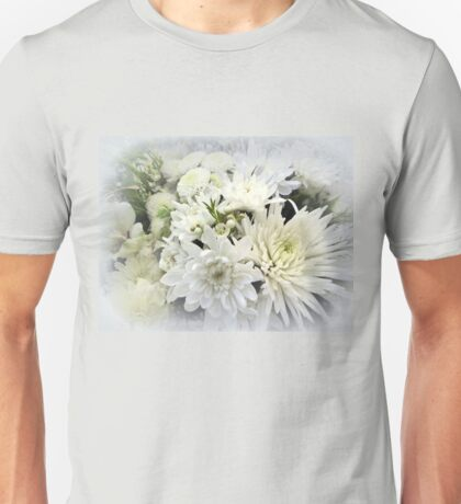 White Floral Bouquet Unisex T-Shirt