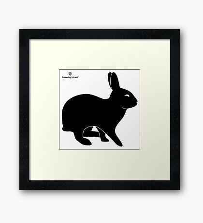 Sly Rabbit Silhouette Framed Print
