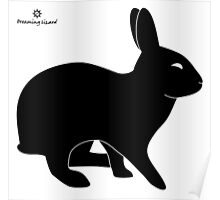 Sly Rabbit Silhouette Poster