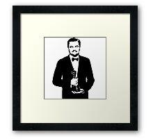 Leonardo DiCaprio Oscar 2016 Framed Print